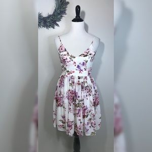 Miss Avenue Floral Backless Dress NWT